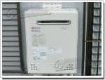 ノーリツのガス給湯器に交換NR-A816RFWA-R→GT-C1652SAWX-2 BL