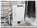 リンナイのガス給湯器に交換GQ-166R→RUX-A1613G